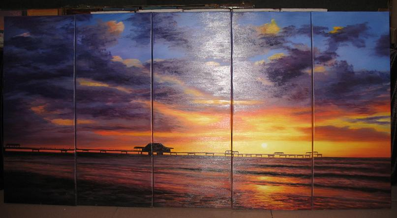 Dafen Oil Painting on canvas seascape painting -set492