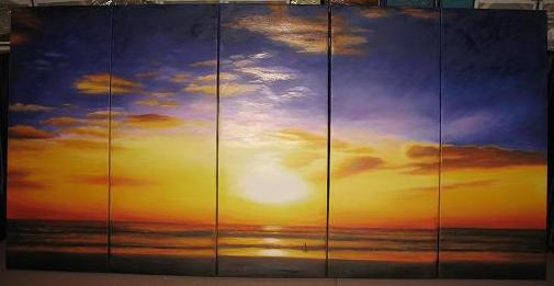 Dafen Oil Painting on canvas seascape painting -set494