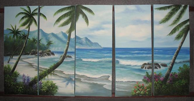 Dafen Oil Painting on canvas seascape painting -set496