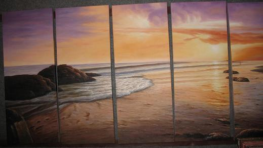 Dafen Oil Painting on canvas seascape painting -set498