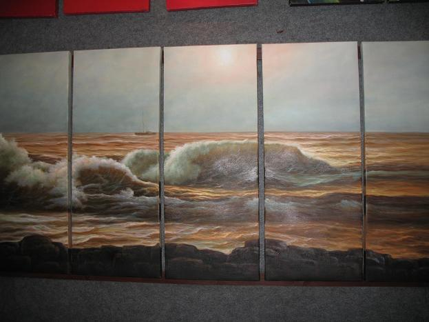 Dafen Oil Painting on canvas seascape painting -set499