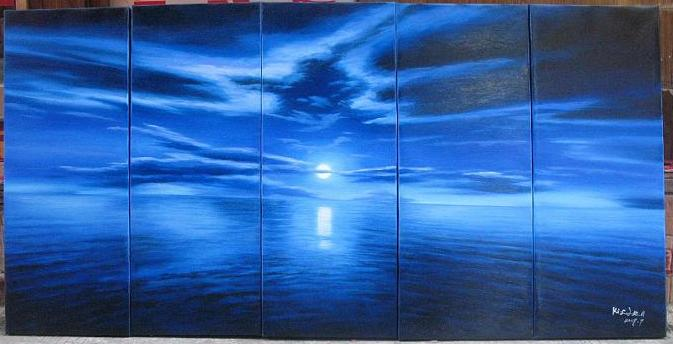 Dafen Oil Painting on canvas seascape painting -set500