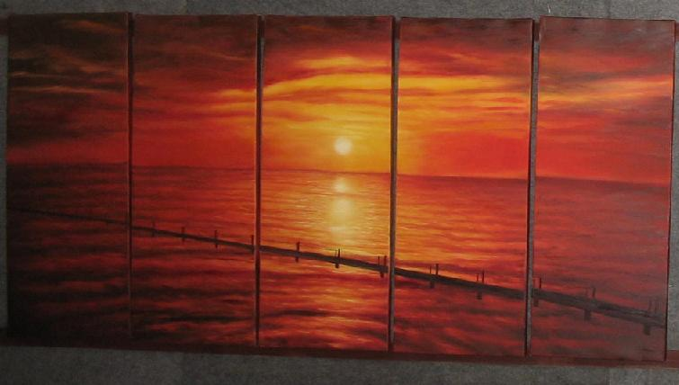 Dafen Oil Painting on canvas seascape painting -set501