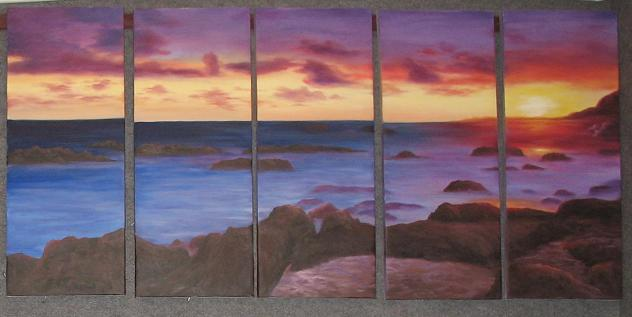 Dafen Oil Painting on canvas seascape painting -set502