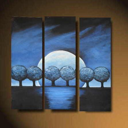 Dafen Oil Painting on canvas trees -set510