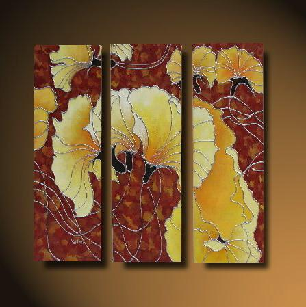 Dafen Oil Painting on canvas flower -set517