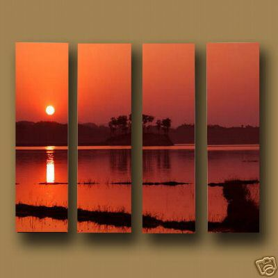 Dafen Oil Painting on canvas the sunglow -set593