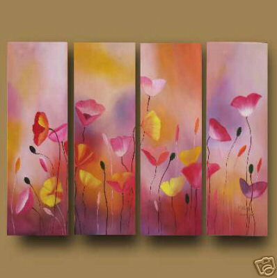 Dafen Oil Painting on canvas the flowers -set 596