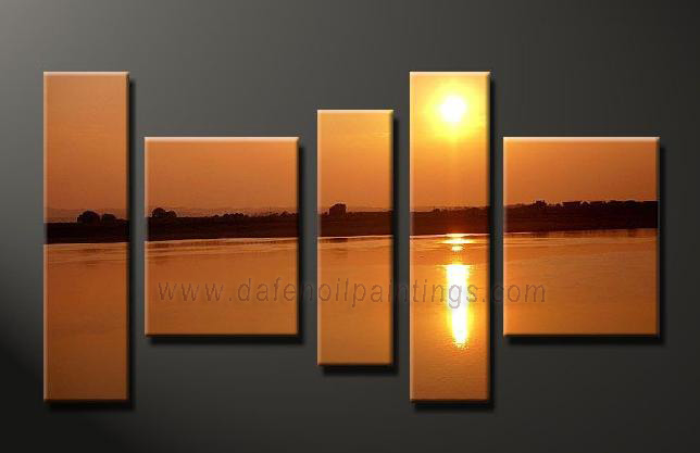 Dafen Oil Painting on canvas seascape painting -set639