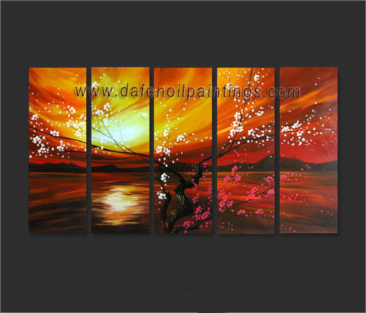 Dafen Oil Painting on canvas flower painting -set652