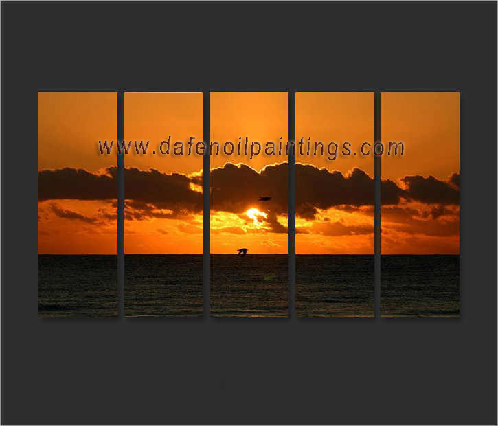 Dafen Oil Painting on canvas sunglow -set658