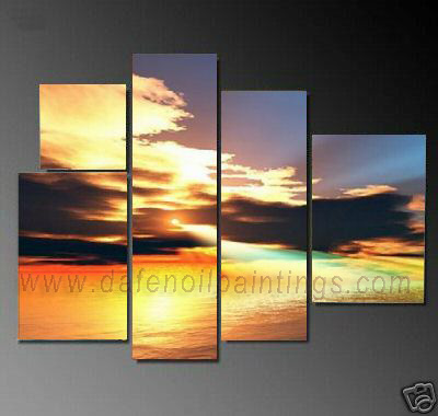 Dafen Oil Painting on canvas seascape painting -set694