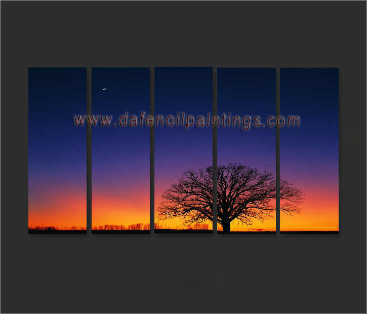Dafen Oil Painting on canvas sunglow -set696