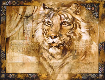 Dafen Oil Painting on canvas -tiger05